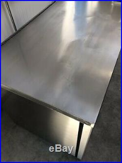 1.2m Foster Counter Prep Display Fridge Chiller Meat Catering Commercial Kitchen