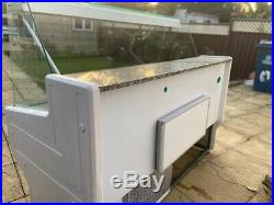 1.5m serve over counter display fridge used
