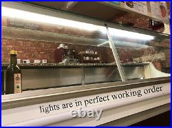 242cm Serve Over Counter, Display Glass Chiller Fridge, Commercial Cafe Takeaway