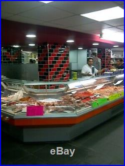 285cm serve over counter meat display chicken display butcher display remote