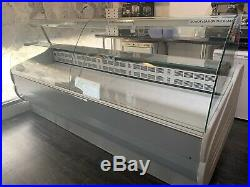 2.43Meter Serve Over Fridge Display Counter Shelf Curved Glass Chiller Catering