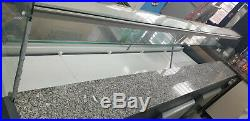 2.5m Serve Over Fridge Display Counter Patisserie Curved Glass Chiller Catering