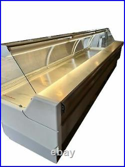 2.6 m & 3.85 m Serve Over Counter Meat Display Chicken Butcher Display Remote