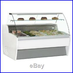 2 Metre MAXIME 20C Chilled Serve Over Counter Fridge Display Chiller Cafe Deli