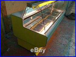 2m Serve over counter Chiller display fridge year 2018 stainless steel interior