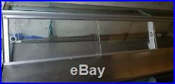 8ft DELI COUNTER MEAT DISPLAY FRIDGE CURVED GLASS