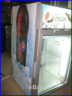 AHT Pepsi Branded Twin Access Pass Through Counter Top Display Chiller