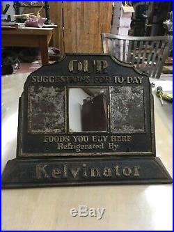 ANTIQUE GENERAL STORE Grocery COUNTER DISPLAY Refrigerated By Kelvinator