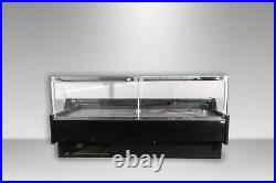 Alan 1.9m Serve Over Counter-lift Up Front Glass Meat Display Fridge Kebab White