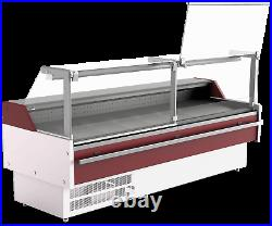 Alan 2m Serve Over Counter-lift Up Front Glass Deli Meat Display Plug In Fridge