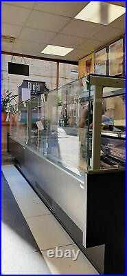 Alan 3.75 M Serve Over Counter-lift Up Front Glass Meat Display Fridge Kebab