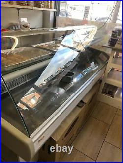 BASIA 2.45m SERVE OVER COUNTER MEAT DIARY DISPLAY CURVED GLASS COMMERCIAL FRIDGE