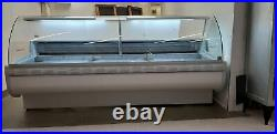 Basia 1.1m Serve Over Counter Meat Diary Display Curved Glass Commercial Fridge