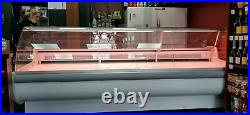 Basia 3.4m Serve Over Counter Meat Diary Display Curved Glass Commercial Fridge