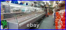 Basia 3m Commercial Serve Over Counter Meat Diary Display New Deli Fridge