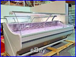 Brand New Serve Over Counter Meat Deli Fish Display Curved Glass Different Sizes