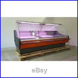 Brand New Serve Over Counter Meat Display Curved Glass Ofelia