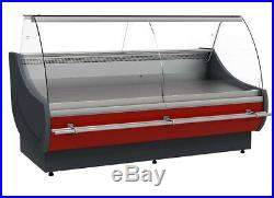 Brand New Serve Over Counter Meat Display Curved Glass Ofelia 2 M