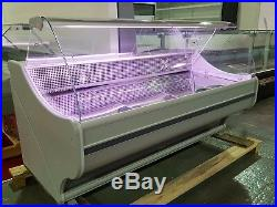 Brand New Serve Over Counter Meat Display Fridge Dynamic Cooling 2m Long Grey