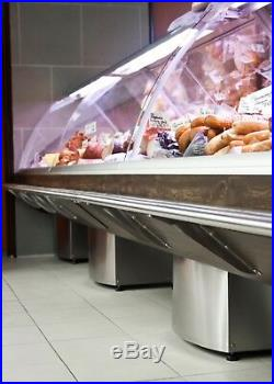 Brand New Wood Effect 3.75m Long Deli Counter, Meat, Diary Fish Chiller Display