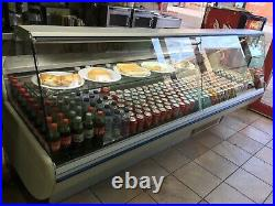 CARAVELL serve over counter display fridge 2500 wide