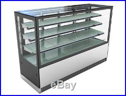 Cake counter Display Fridge 1500x700x1300mm 3 shelves Mirror front LED Commercil