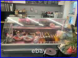 Commercial fridge serve over display counter