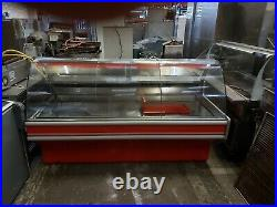 Commercial meat display fridge counter serveover grocery meat display unit 1.9m