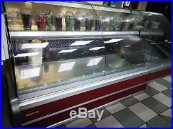 Corner Counter Display Fridge Serve Over Counter Meat Diary Desserts