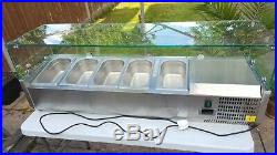 Counter top display refrigerated topping