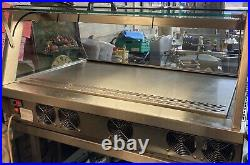 Curved Glass Refrigerated Chilled Counter Top Display Cabinet