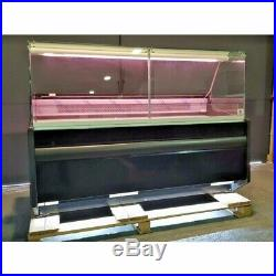 DELI COUNTER COOLING SERVE OVER COUNTER SQUARE GLASS DISPLAY CHILLER PICO 1.62 m