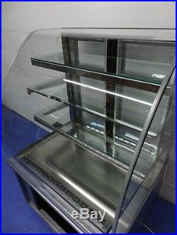 Delfield 900mm Curved Glass Refrigerated Serve Over Counter Serving Display
