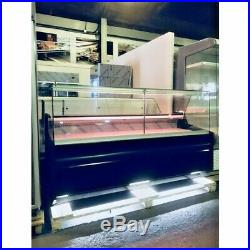 Deli Counter Cooling/ Serve Over Counter/ Square Glass Display Chiller Pico Deep