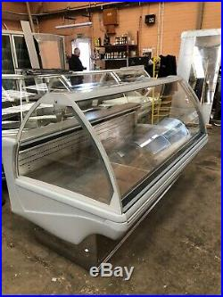 Deli Counter Meat Display Fridge Grey Curved Glass Led Lights 2. M