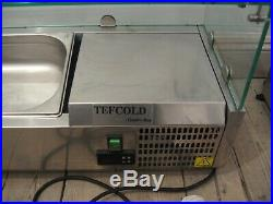 Food Display Counter, Topping Cooler Fridge Unit, Saladette, Pizza Prep Topping