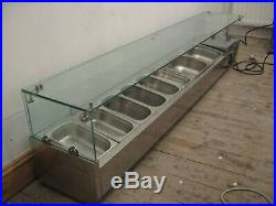 Food Display Counter Topping Cooling Fridge, Unit, Saladette Pizza Prep Toppings