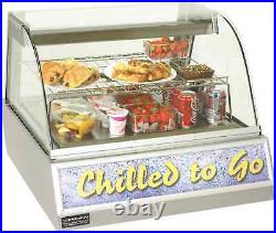 Gastronorm counter top display case Vizu Refrigerated 2 Pan Showcase 2x 1/1GN