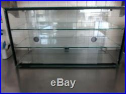 Glass Ambient Counter Top Display With Sliding Doors