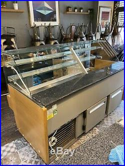 Glass counter top refrigerated display chiller 1800mm 2 Years Old