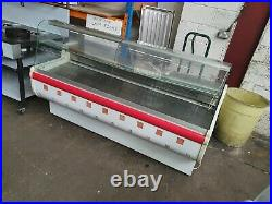 Igloo 2 Metre Commercial Curved Glass Serve Over Counter Display Fridge