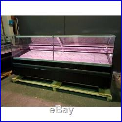 New Serve Over Counter Meat Diary Fish Display Square Glass Shop Fridge 3.13 M