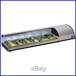 New Sushi Bar Cold Fish & Meat Counter Fridge Display Free Uk Delivery