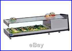 New Tapas 6 Pan Counter Top Bar Cold Fish & Meat Fridge Display Free Uk Delivery