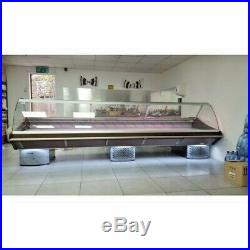 New Wood Effect Deli Counter, 1 M Long Marble Work Top, Meat Fridge Display
