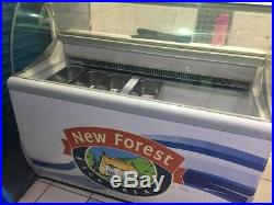 New forest' Ice cream chest freezer with display and serving counter