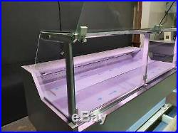 Oscar Grey 2m Serve Over Counter-lift Up Front Glass Deli Meat Display Fridge