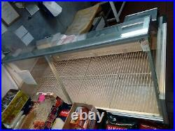 Over Counter Display Fridge for Butchers. Used