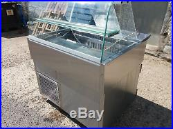 Over Counter Stainless Steel Display Salad Bar Unit