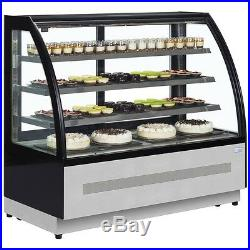 PATISSERIE CURVED GLASS SHOP DISPLAY FRIDGE COUNTER @ £1599+Vat & FREE DELIVERY